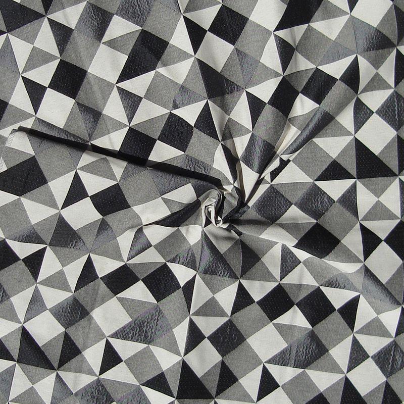 Dancer gris Tissu ameublement jacquard à carreaux L.140cm Thevenon