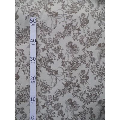 puzzle tissu ameublement coton toile de jouy noir l 142cm thevenon