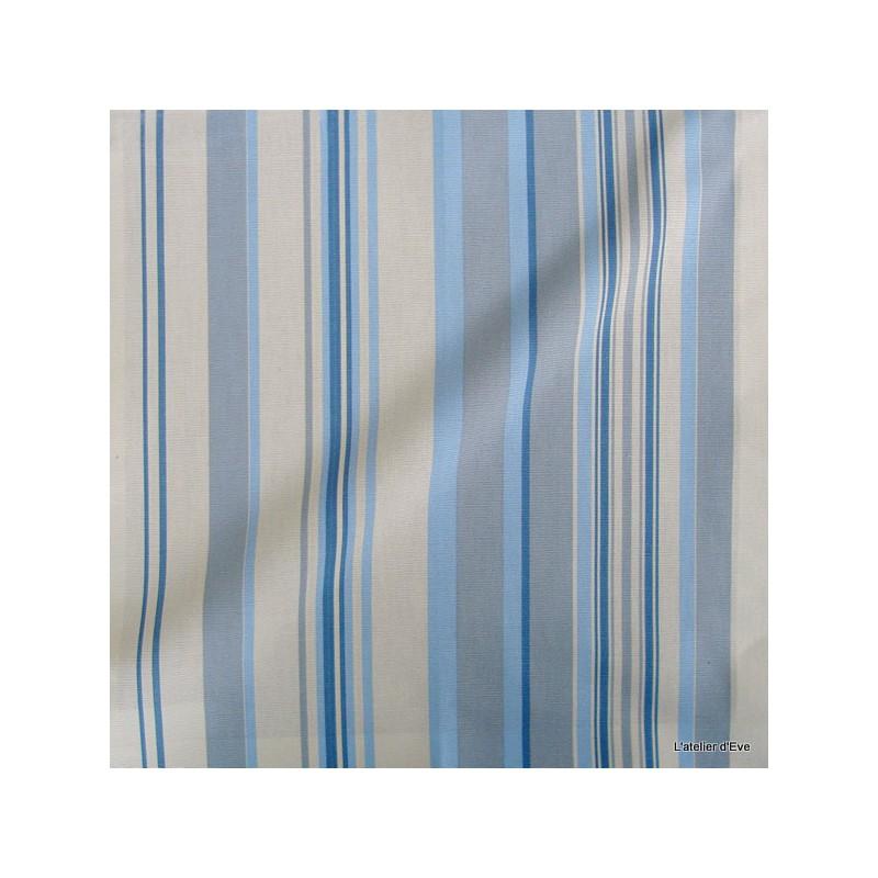 manon tissu ameublement coton rayures bleu ciel thevenon 626250 le metre. Black Bedroom Furniture Sets. Home Design Ideas