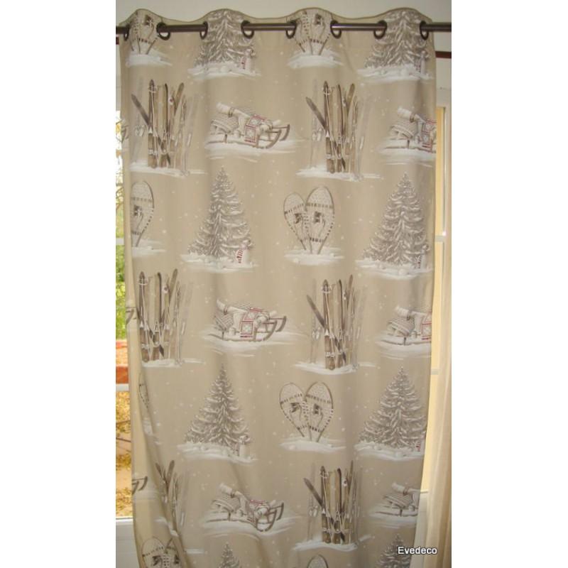 chalet-de-pierre-rideau-a-oeillets-pret-a-poser-bachette-coton-fond-beige-1091601a-le-rideau