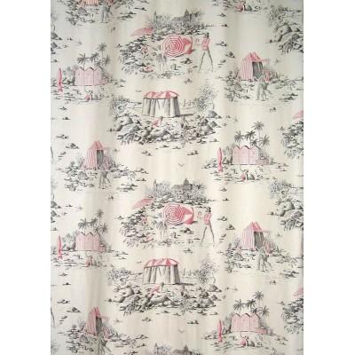 Deauville Bis 2 coloris Tissu ameublement toile de jouy grande largeur Thevenon 1111403A le metre