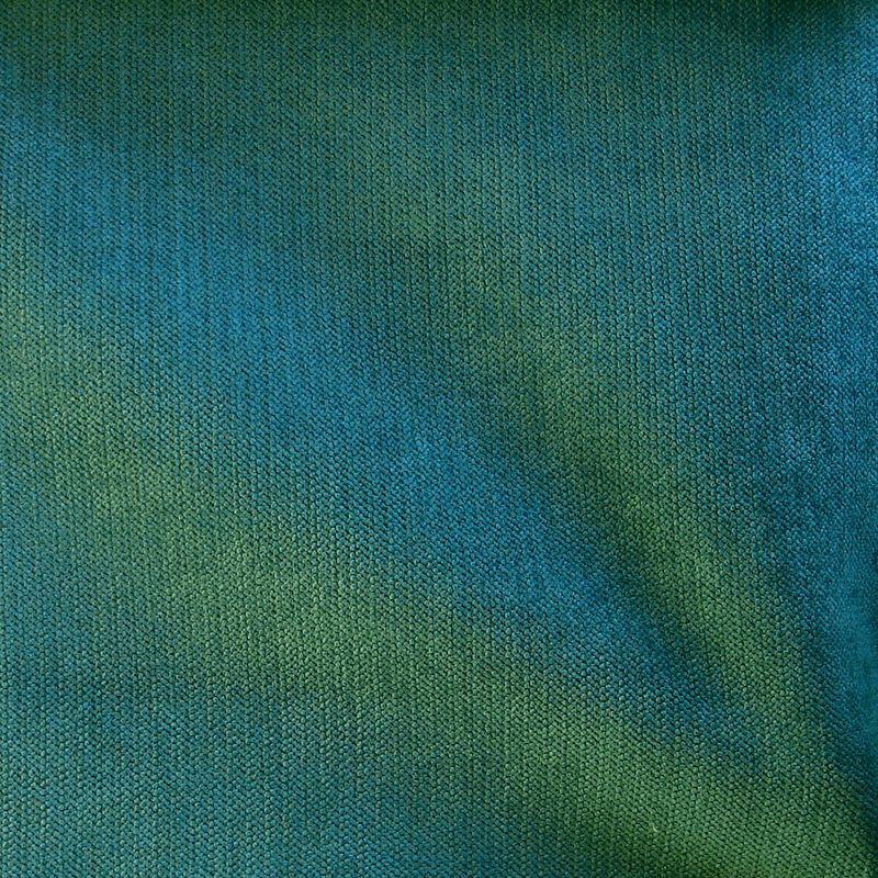 Douceur tissu ameublement velours uni bleu canard thevenon 1293923 le - Tissu velours bleu canard ...