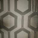 Hexagone Tissu ameublement jacquard ficelle L.280cm Thevenon 1490720 le metre