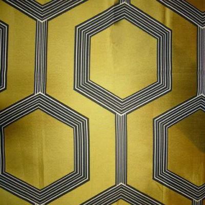 Hexagone 3 coloris Tissu ameublement jacquard jaune L.280cm Thevenon 1490723 le metre