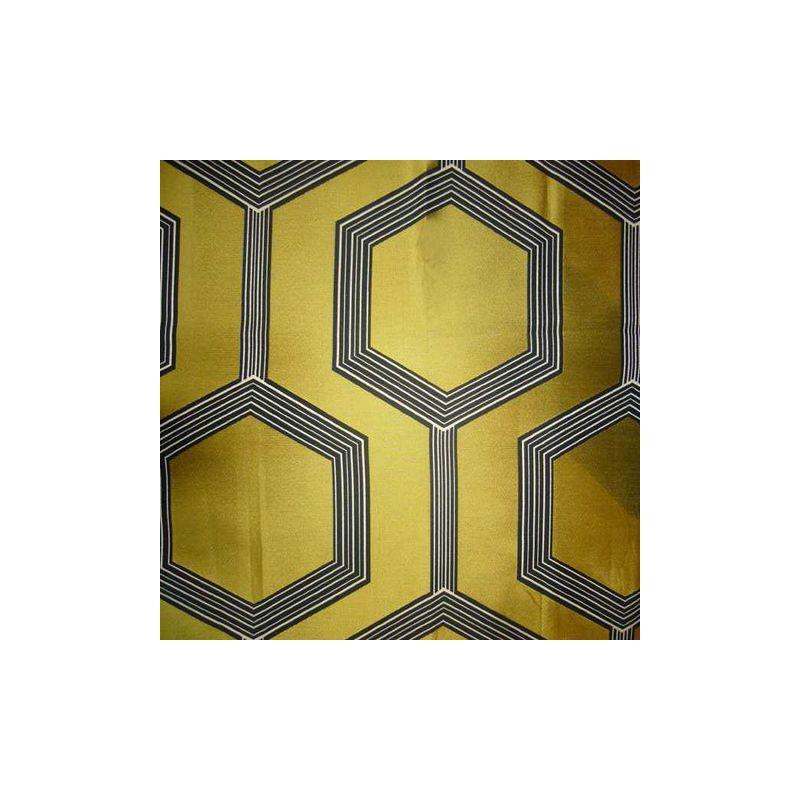 Hexagone 3 coloris Rideau a oeillets pret a poser jacquard jaune Clair Fonce 1490723 le rideau