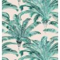 Bahia furnishing fabric cotton pattern Palm Thévenon