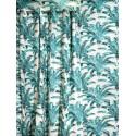 Bahia Rideau à oeillets Made in France motif palmier Thevenon Le rideau