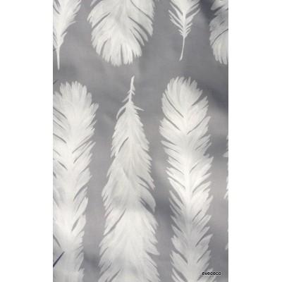 Nouveau monde 3 coloris Rideau a oeillet pret a poser coton blanc fond gris Clair Foncé 1521601 le rideau