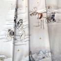 Balades en traineau Tissu ameublement coton grande largeur naturel/or Thevenon le metre
