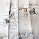 Balades en traineau Tissu ameublement coton grande largeur thème noël Thevenon