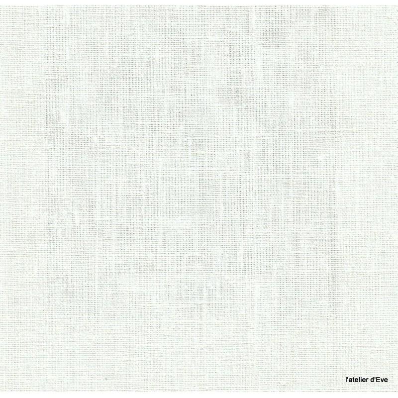 Linum Tissu ameublement toile de lin ecru Thevenon 1509880 le metre