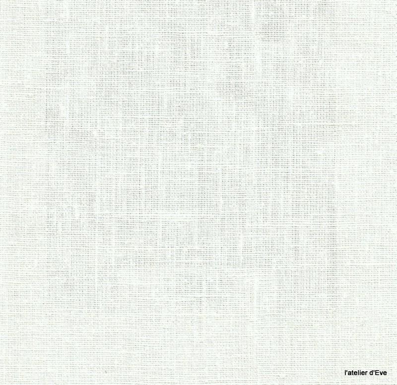 Linum tissu ameublement toile de lin ecru thevenon 1509880 le metre - Toile de jouy au metre ...