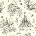 """In Wonderland"" coupon 65x110cm toile de jouy Thevenon"