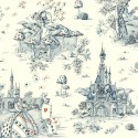 In the land of wonders (2 colours) furnishing fabric of jouy fabric great width for seat Thévenon