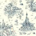 Au pays des Merveilles (2 coloris) Tissu ameublement toile de jouy grande largeur pour siege Thevenon