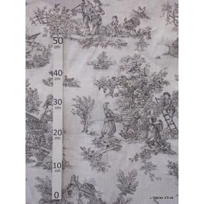 bucolique-tissu-ameublement-toile-de-jouy-anthracite-fond-blanc