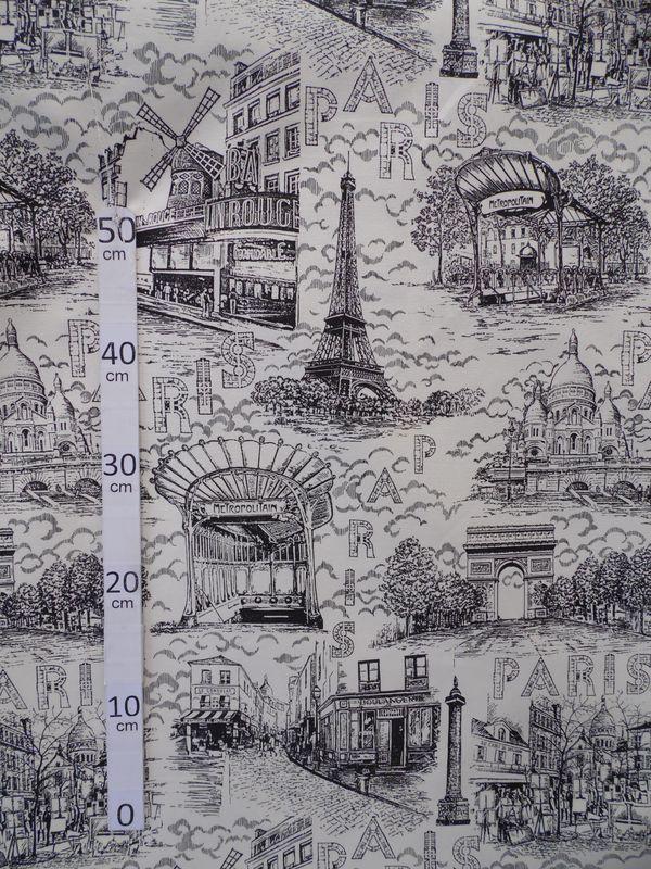 Paris toile de jouy monuments paris tissu ameublement coton alex tiss - Tissu ameublement paris ...