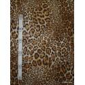 Jaguar Tissu pour nappe microfibre imitation peau de bete L.148cm Alex tissus A103-38