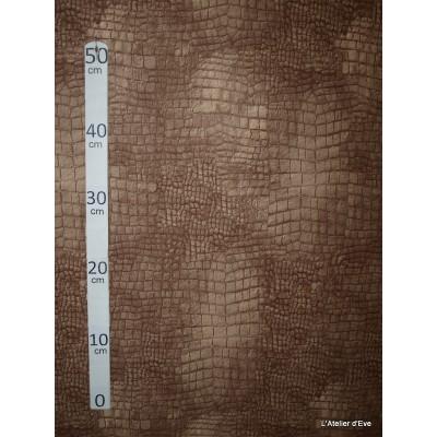 Aligator 2 coloris Tissu ameublement microfibre imitation peau de bete sable L.148cm Alex tissus A103-36