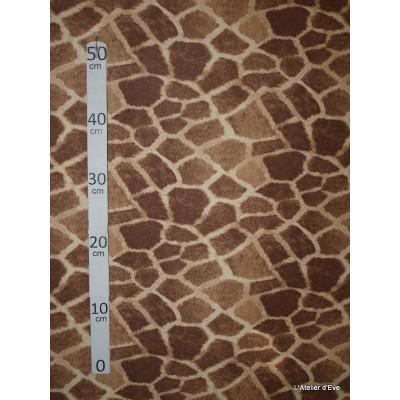 Girafe Tissu pour nappe microfibre imitation peau de bete L.148cm Alex tissus A103-25
