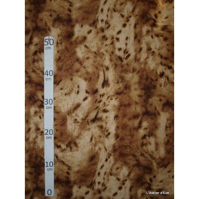 Lynx Tissu pour nappe microfibre imitation peau de bete L.148cm Alex tissus A103-26
