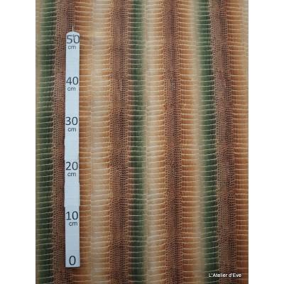 Crocodile Tissu pour nappe microfibre imitation peau de bete L.148cm Alex tissus A103-27