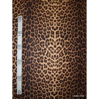 Panthere Tissu pour nappe microfibre imitation peau de bete L.148cm Alex tissus A103-29