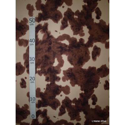 Vache rousse Tissu pour nappe microfibre imitation peau de bete L.148cm Alex tissus A103-31