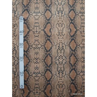 Anaconda Tissu pour nappe microfibre imitation peau de bete L.148cm Alex tissus A103-35