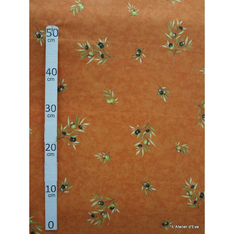 Manosque Tissu ameublement coton provencal L.160cm Alex tissus A164 brique