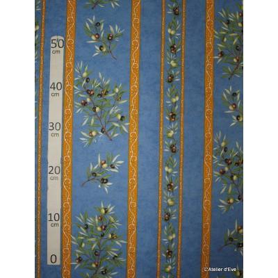 Manosque rayures Tissu ameublement coton provencal L.160cm Alex tissus A165 bleu