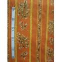 Manosque rayures Tissu ameublement coton provencal L.160cm Alex tissus A165 brique