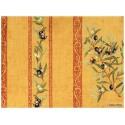 Manosque rayures Tissu ameublement coton provencal L.160cm Alex tissus A165 jaune