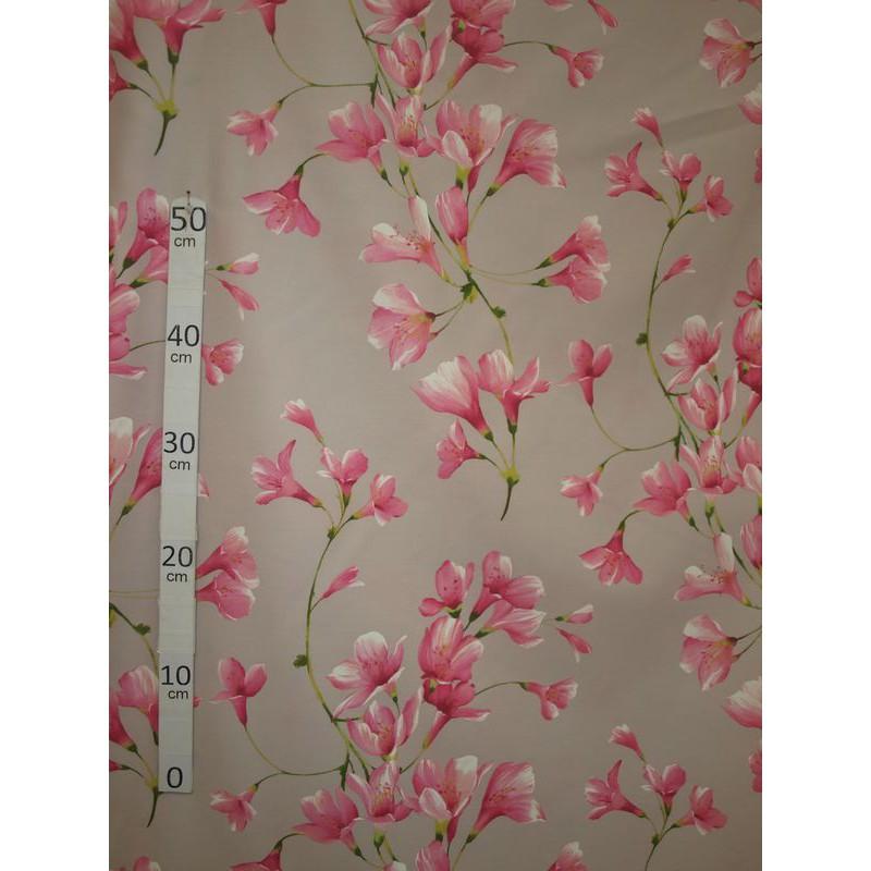 douceur-tissu-ameublement-poly-coton-fleuri-rose-fond-gris-l280cm-alex-tissus-a6993778-le-metre