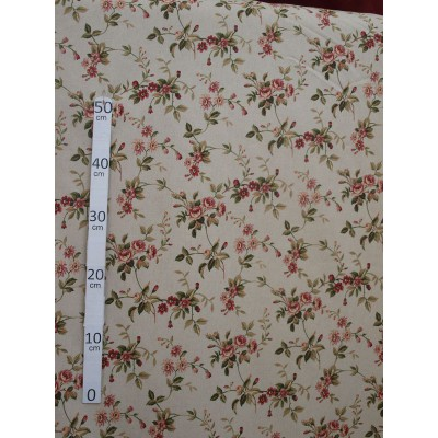 Jersey Tissu ameublement coton lin rose fond lin L.280cm Alex Tissus A559.lin le metre