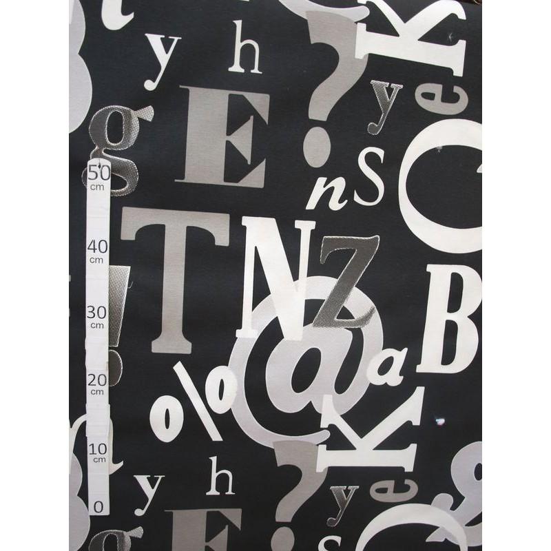 De A a Z Tissu ameublement polycoton noir L.280cm Alex Tissus A589.04 le metre