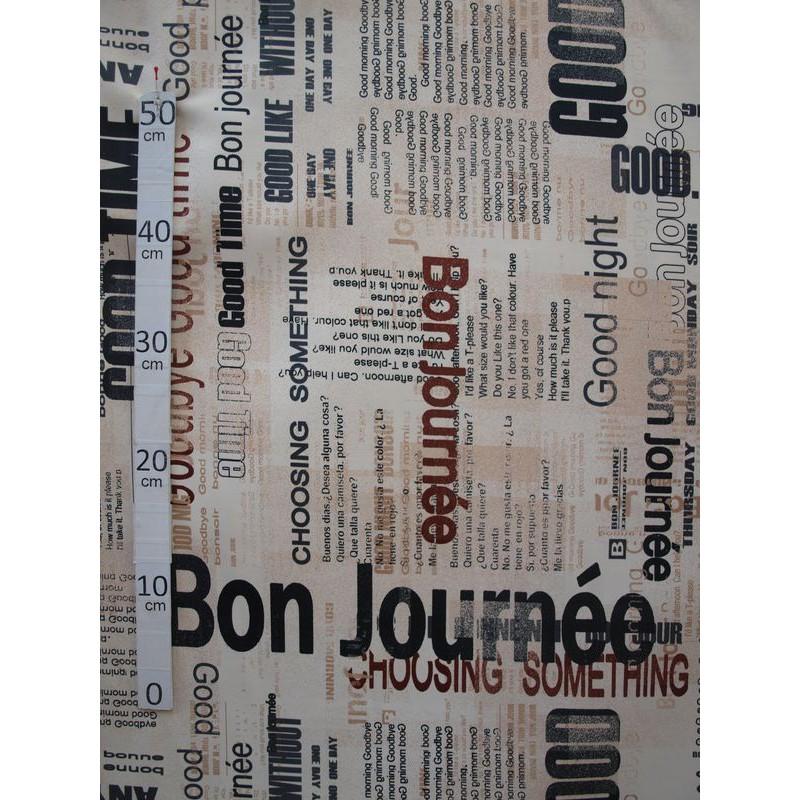 News Tissu ameublement imprime PolyCoton L.280cm Alex tissu A699.3510 le metre
