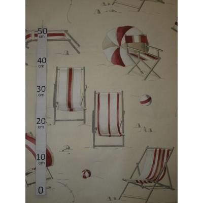 Farniente Tissu ameublement coton rouge L.280cm Alex Tissus A699.3694 le metre