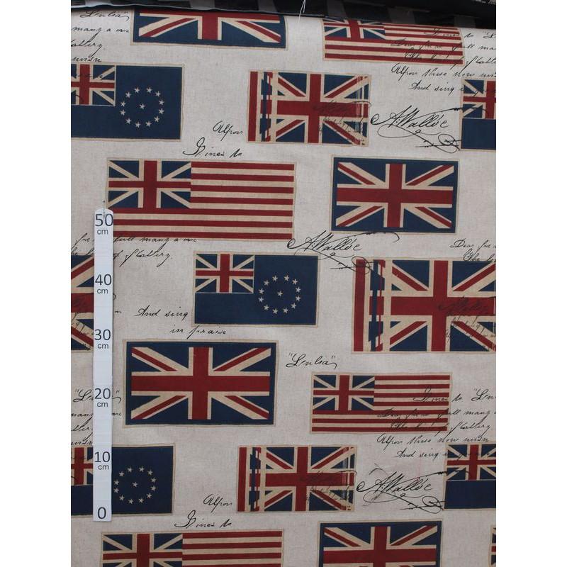 Drapeau Commonwealth Tissu ameublement polycoton L.280cm Alex Tissu A699.3753 le metre