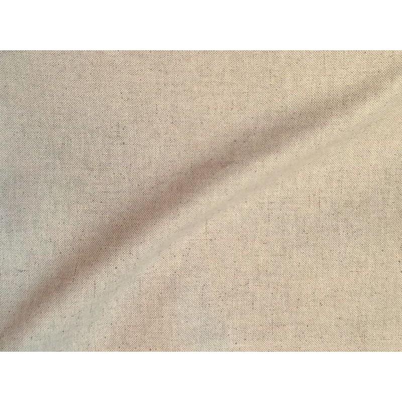 Lino uni Tissu ameublement polycoton aspect lin L.280cm Alex Tissu A699.3750 le metre