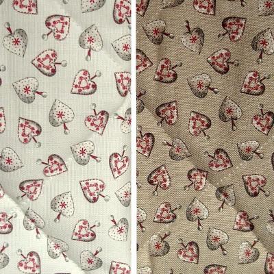 Bloom matelasse (2 coloris) Tissu ameublement matelasse grande largeur motif coeurs Thevenon