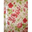Birmingham 2 coloris Tissu ameublement grande fleurs rouge L.280cm Alex Tissus A602.01 le metre