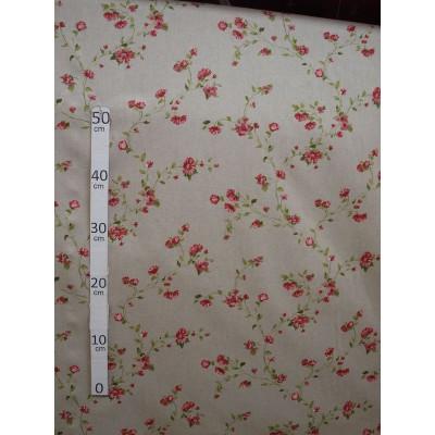 Birmingham Tissu ameublement petite fleurs rouge L.280cm Alex Tissus A602.03 le metre