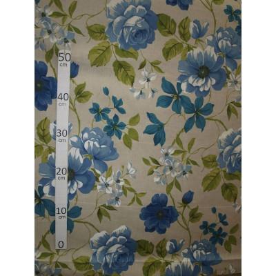 Birmingham 2 coloris Tissu ameublement grande fleurs bleu L.280cm Alex Tissus A603.01 le metre