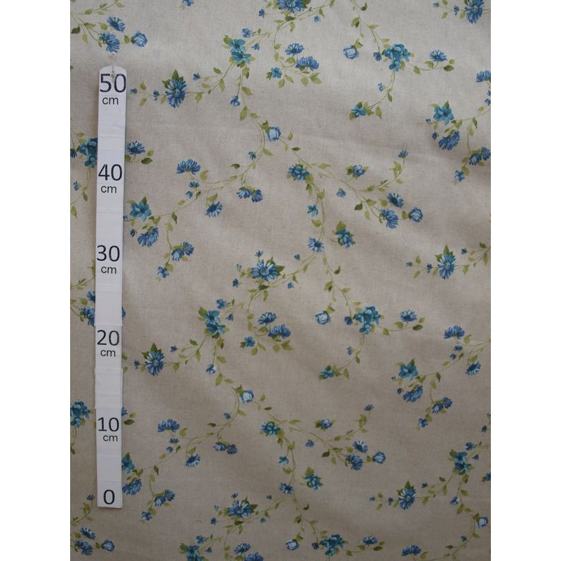 Birmingham Tissu ameublement petites fleurs bleu L.280cm Alex Tissus A603.03 le metre