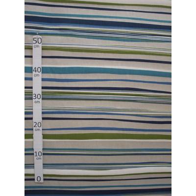 Birmingham 2 coloris Tissu ameublement polycoton rayures bleu/vert par Alex tissu A603.02 le metre