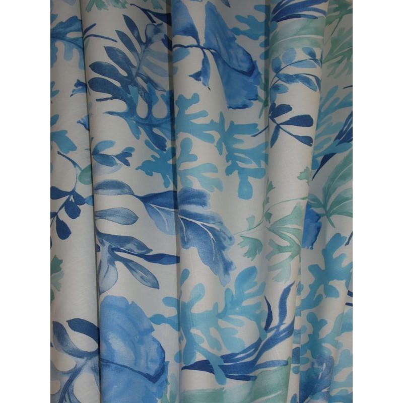 Mer de corail 3 coloris Tissu ameublement coton bleu L.280cm Alex Tissus A699.3827 le metre