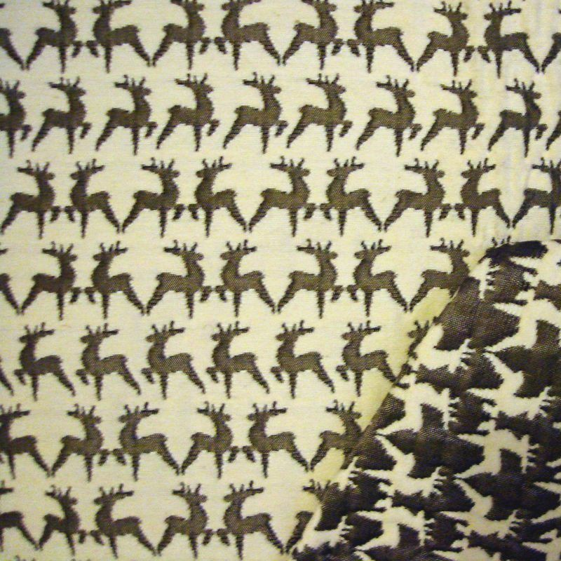 Cerf Rideau a oeillets pret a poser jacquard reversible Le rideau