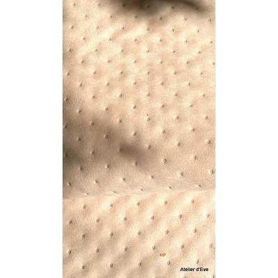 Capiton Tissu ameublement matelasse L.150cm creme par Alex tissu A305.04 le metre