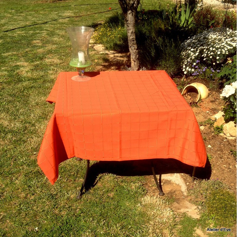 isis paprika nappe de table sur mesure 180x300cm 763716. Black Bedroom Furniture Sets. Home Design Ideas